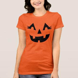 Women's Halloween Shirt   Pumpkin Face