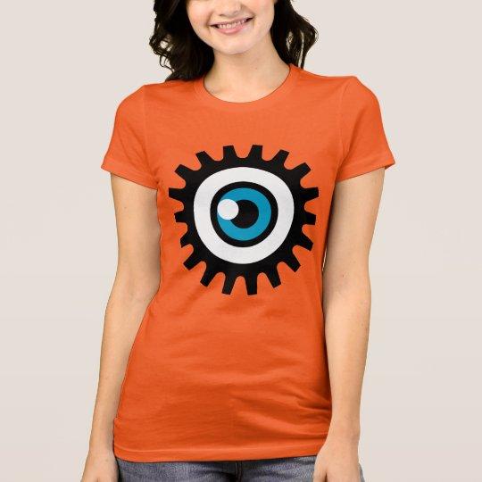 Women's Halloween T-shirt: Halloween Eye (Orange) T-Shirt