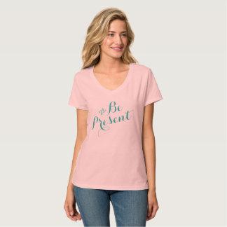 Women's Hanes Nano V-Neck T-Shirt ~ #BePresent