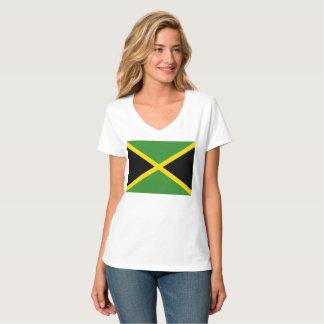 Women's Hanes Nano V-Neck T-Shirt (jamaican flag)