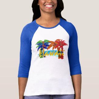 Womens Hawaii palm tree shirt