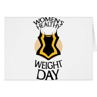 Women's Healthy Weight Day - Appreciation Day Card