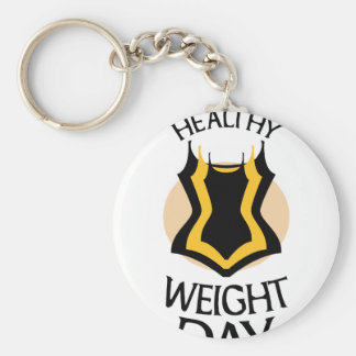 Women's Healthy Weight Day - Appreciation Day Keychain