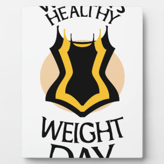 Women's Healthy Weight Day - Appreciation Day Plaque