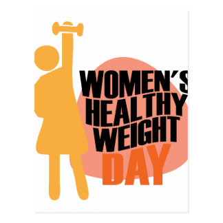 Women's Healthy Weight Day - Appreciation Day Postcard