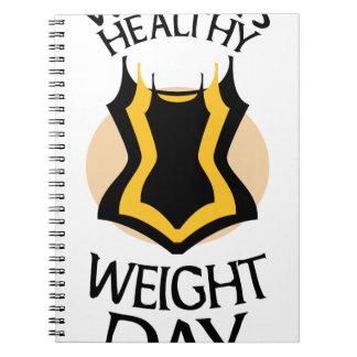 Women's Healthy Weight Day - Appreciation Day Spiral Notebook
