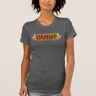 WOMENS Heavy Metal Fire Horns Shirt
