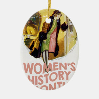 Women's History Month - Appreciation Day Ceramic Oval Ornament