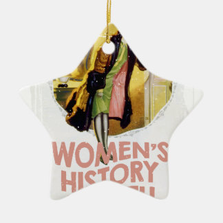 Women's History Month - Appreciation Day Ceramic Star Ornament