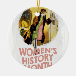 Women's History Month - Appreciation Day Round Ceramic Ornament