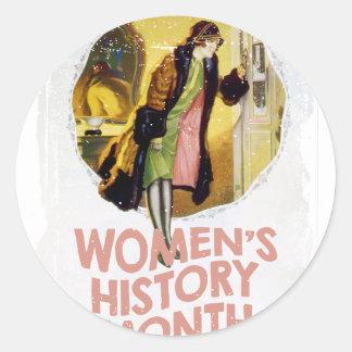 Women's History Month - Appreciation Day Round Sticker
