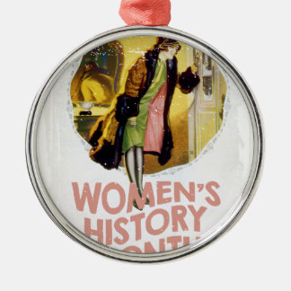 Women's History Month - Appreciation Day Silver-Colored Round Ornament
