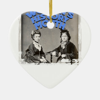 Women's History Month Ceramic Heart Ornament
