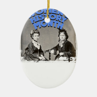 Women's History Month Ceramic Oval Ornament