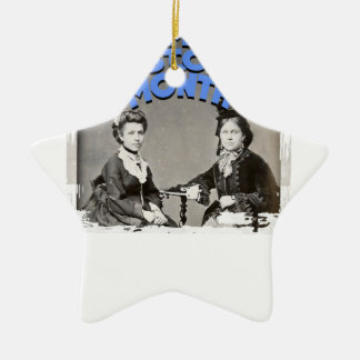 Women's History Month Ceramic Star Ornament