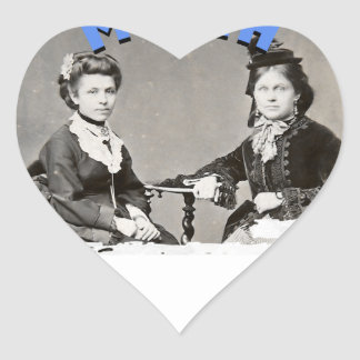 Women's History Month Heart Sticker
