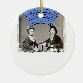 Women's History Month Round Ceramic Ornament
