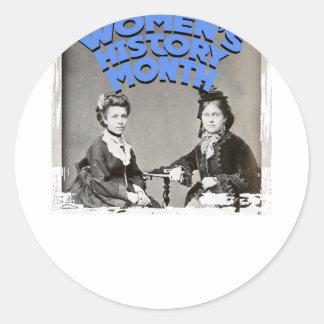 Women's History Month Round Sticker
