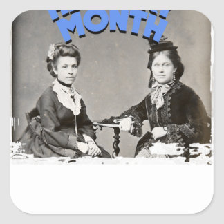 Women's History Month Square Sticker