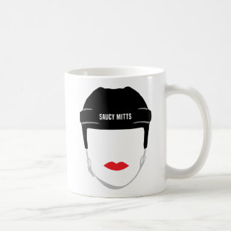 Women's Hockey Helmet Face Lips Coffee Mug