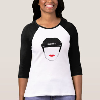Women's Hockey Helmet Face Lips T-Shirt