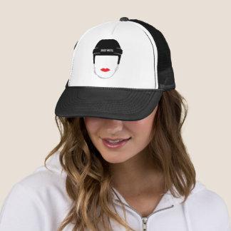 Women's Hockey Helmet Face Lips Trucker Hat