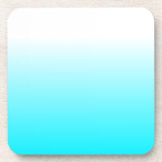 Women's Home Decor Trendy Cool Aqua Blue Ombre Coaster