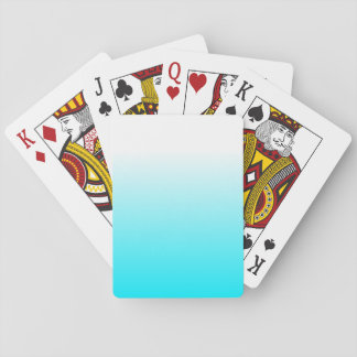 Women's Home Decor Trendy Cool Aqua Blue Ombre Playing Cards