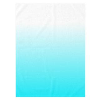 Women's Home Decor Trendy Cool Aqua Blue Ombre Tablecloth