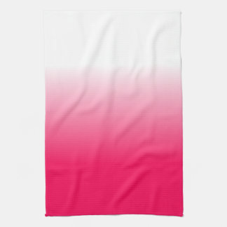 Women's Home Decor Trendy Pink Ombre Kitchen Towel
