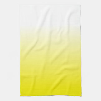 Women's Home Decor Trendy Yellow Ombre Kitchen Towel