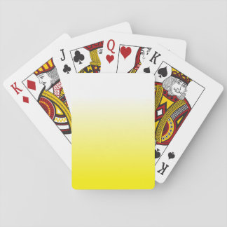 Women's Home Decor Trendy Yellow Ombre Playing Cards