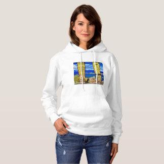 """Women's Hoodie """"Lake Pleasant Saguaro Pillars"""""""