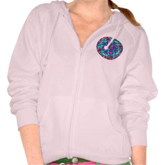 Womens Hoodie pink : Peace Harmonics