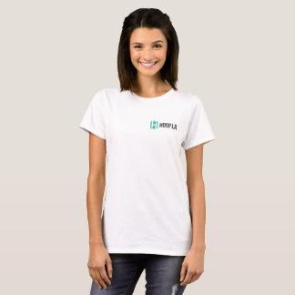 Women's Hoop.la community logo t-shirt
