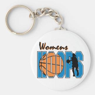 Womens Hppos Basic Round Button Keychain