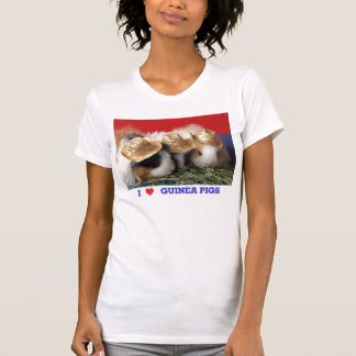 Womens I Love Guinea Pigs T Shirt