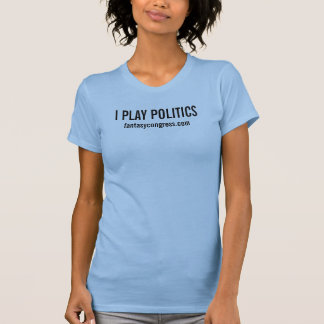 Womens I Play Politics Fitted Tank Top