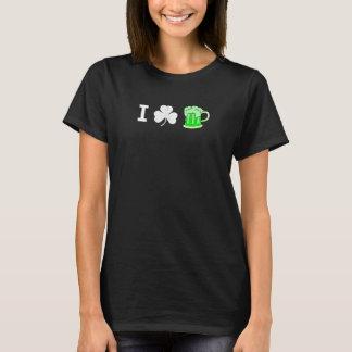 Women's I shamrock green beer T-Shirt