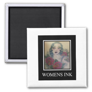 Womens Ink Square Magnet