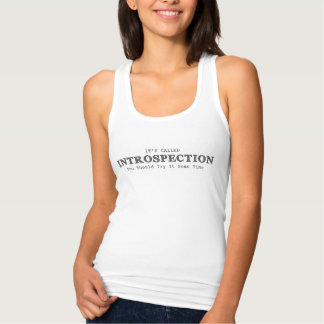 Womens It's Called Introspection White Tank Top