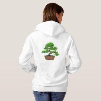 Women's Japanese Bonsai Tree Hoodie (White)