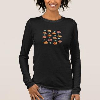 Women's jersey long sleeve T-shirt with pumpkins