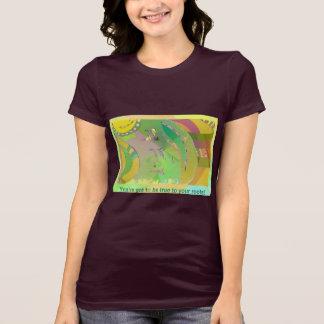 Womens Jersey T-shirt Ethnic Art / True Roots Text