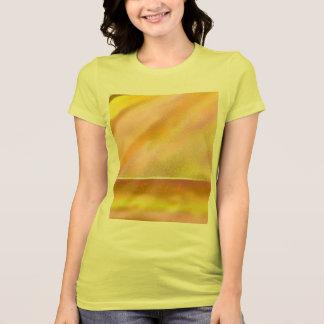 Women's Jersey T-shirt Sun Lake Art Yellow + TEXT