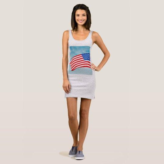 Women's Jersey Tank Dress - American Flag
