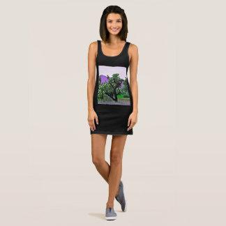 Women's Jersey Tank Dress -Tonto Jumpers Cartoon