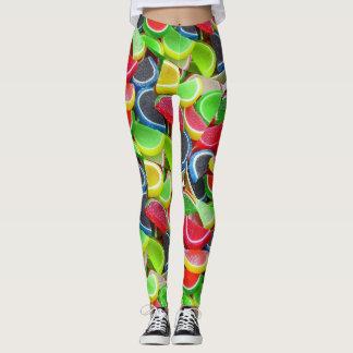 Women's Juicy Gummy Candy Fruit Slice Leggings