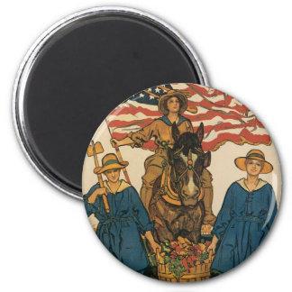 Women's Land Army 2 Inch Round Magnet