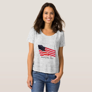 Women's Land of the Free Slouchy Boyfriend T-Shirt